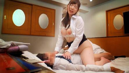 斉藤みゆ♡「オレ3発くらい出せるよ」巨乳女子社員と上司はラブホで1発10万円のゲームに挑戦するのか